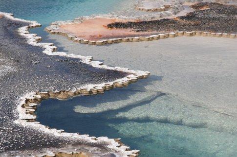 spring at the upper geyser basin