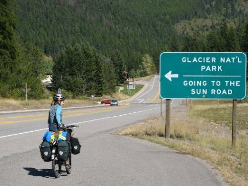 the 'Not going to the sun' road...entering Glacier NP, we would find out in 4 miles that they closed the GTTSR a day earlier and it was not possible to ride to Logan Pass...