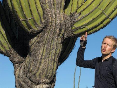 Ali and cardon cactus