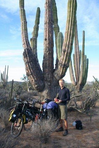 Ali at desert camp, Punta Prieta
