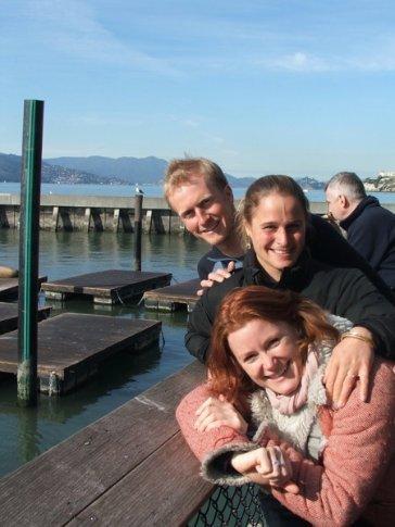 At San Francisco wharf