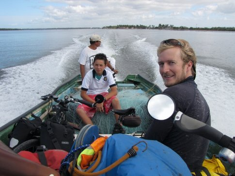 The first of four boat trips, this one from Teacapan to  San Cayetano