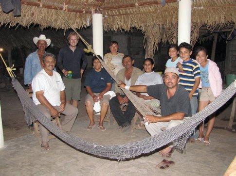 Familia Gonzalez, our friendly hosts for a night in Santa Cruz, Nayarit