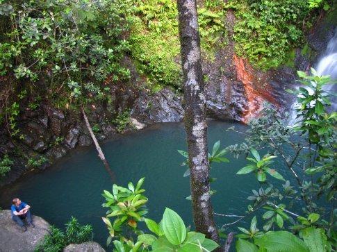 Waterfall on Tiger fern walk, Cockscomb Basin, Belize