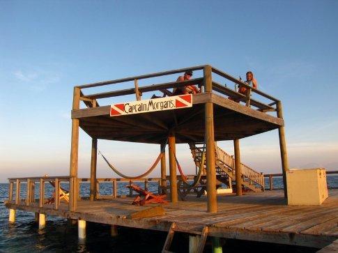 Captain Morgan's jetty, Jewel Caye