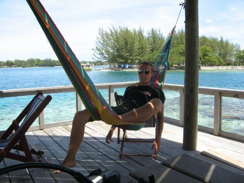 Instructor David doing some hammock time