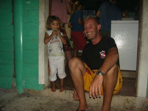 Pedro and a local nina at the fish market