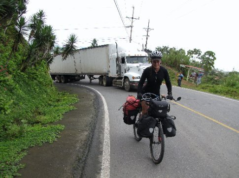Bikes are better than trucks......riding up the hill from Dominical to San Isidro. A truck broke down right in the steepest corner.