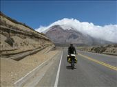 Finally over the pass, Ali on a long downhill run from Chimborazo: by thefuegoproject, Views[245]