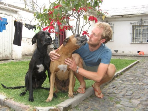 Ali playing with Jack and Malola-Saying goodbye a second time to our friends in Tumbaco.