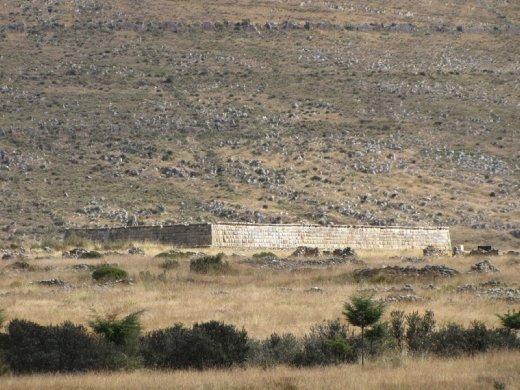 Ushnu or central religious building in Huanuco Viejo