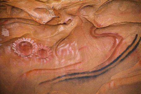 aboriginal paintings in Arkaroo rock