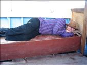 The day after celebrating his birthday on Isle del Sol, Glen takes a nap on the boat journey back to Copacabana.: by thehappyeggs, Views[161]