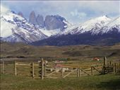Laguna Amarga Shelter and Camp, with Torres del Paine behind. A little human footprint in the heart of the inmensity.: by themiddleofnowhere, Views[160]
