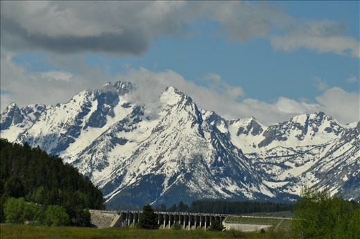 The view of the Grand Tetons.