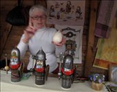 """Russian lady who has magic hands in creating those """"Tri Bogatyrya"""" miniatures-three main characthers of a Russian folktale.: by thepursuitofhappyness, Views[206]"""