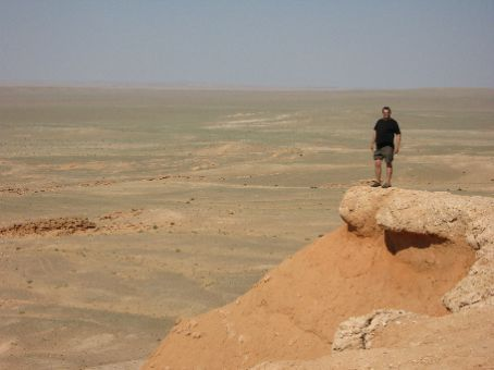 Greg on the Flaming Cliffs