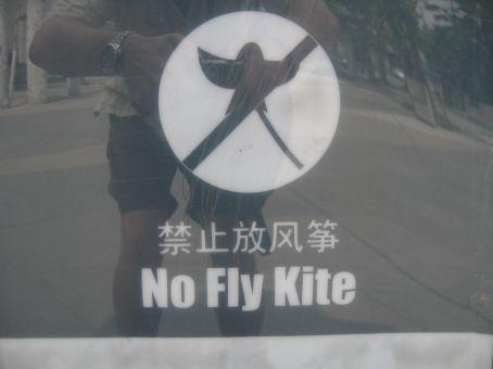 NO FLY KITE!