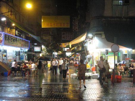 Outdoor restaurants and foodstalls in  Hong Kong