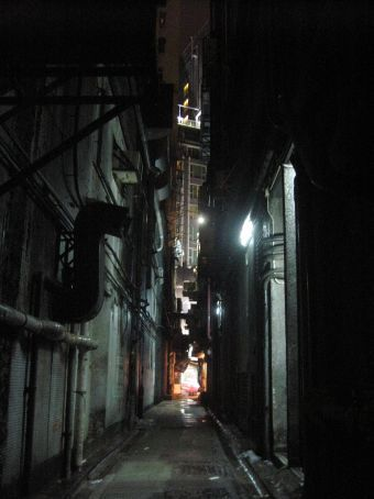 A dark alley on our way to our  guesthouse