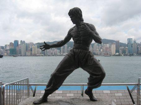 We saw Bruce Lee at Victoria Harbor