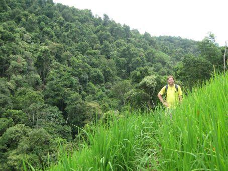 Greg in a rice field