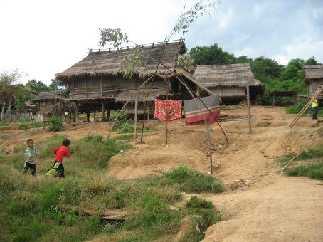 Akha village; New Year's swing