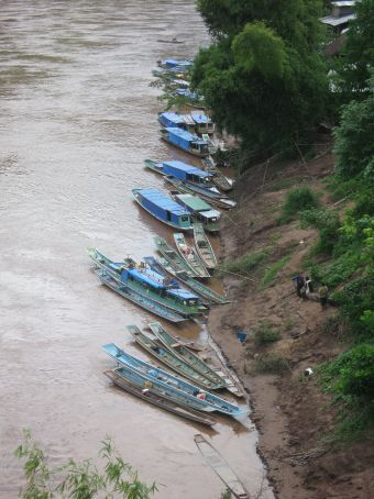Boats in Nong Khiaw