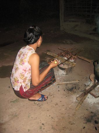 Lani cooking our birds