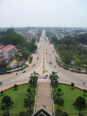 A view of Vientiane from