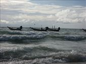 Some Longtail boats just off the shore: by thestunnings, Views[385]