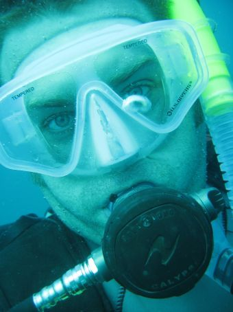 Greg up close and underwater