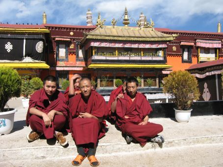 Some monks at the Jokhang