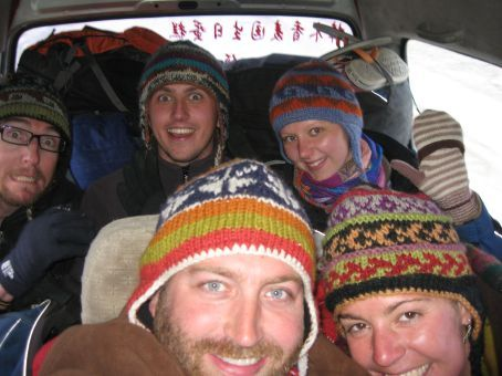 In our little van on