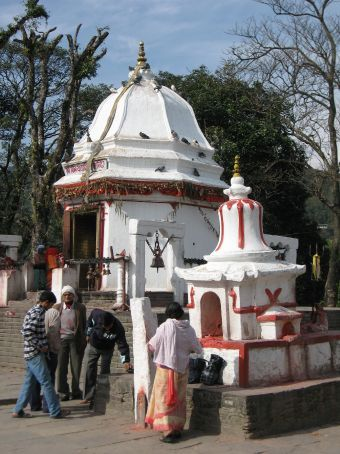 Small Hindu temple, our first experience with animal sacrafice