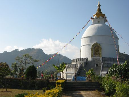 The World Peace Pagoda outside of Pokhara