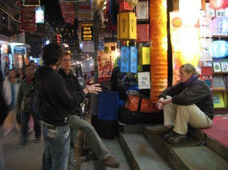 Some street sitting in Kathmandu