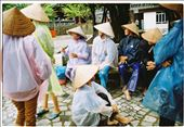 The ferrywomen are laughing and talking to each other when they see us coming to them. As usual, they will take people on the ferry and steer the ferry about 10 kilometers to visit Trang An caves and valleys. : by thetranganjourney, Views[114]