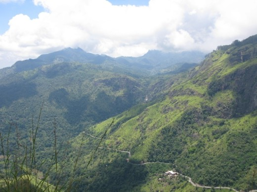 the view from mini Adam's Peak.  We all loved it