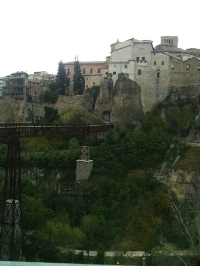 Cuenca from across the ravine.