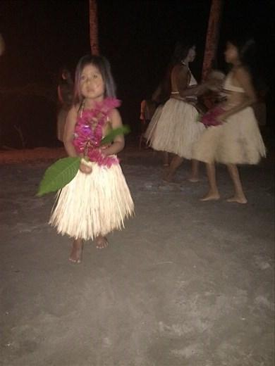 Welcome bonfire and traditional Kichwa dance