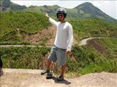 Looking back over the winding road which is part of the Ho Chi Minh trail used during the war. Great piece of road to ride on and very scenic.: by thibaut, Views[204]