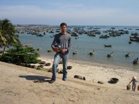 On the steps of the fishing village, Mui Ne.