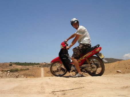 Taking a hired scooter for a spin on some random tracks around Mui Ne.