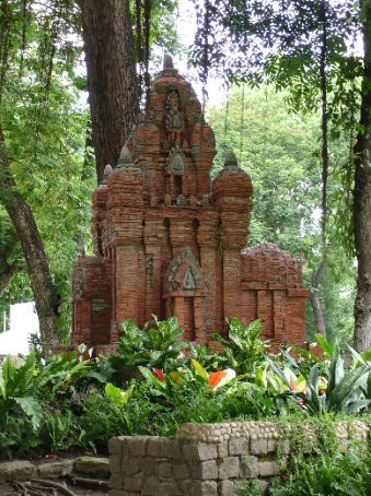 A monument in 'Tao Dan Park' near the center of Ho Chi Minh City.