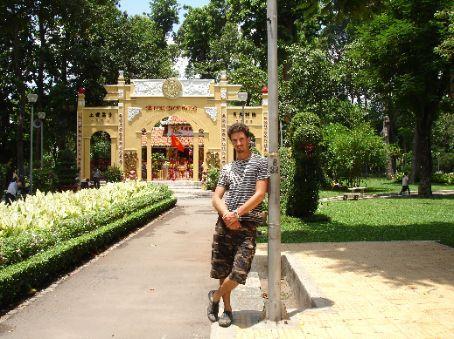 Me at 'Tao Dan Park' in HCMC.