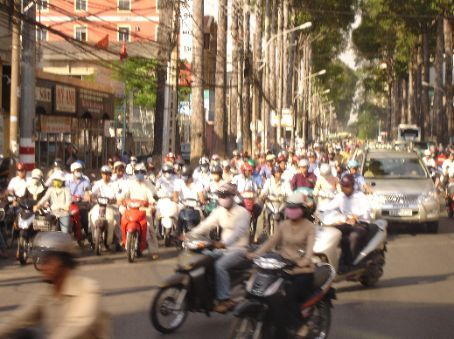 Some of the millions of motorbikes in HCMC which fill the streets.