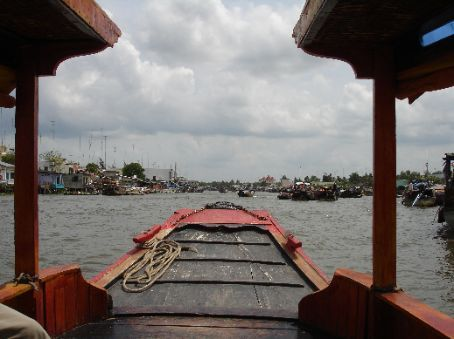 Cruising along the Mekong Delta...