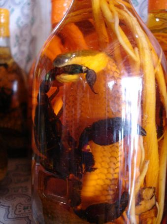 Rice wine with the added flavor of a scorpion!