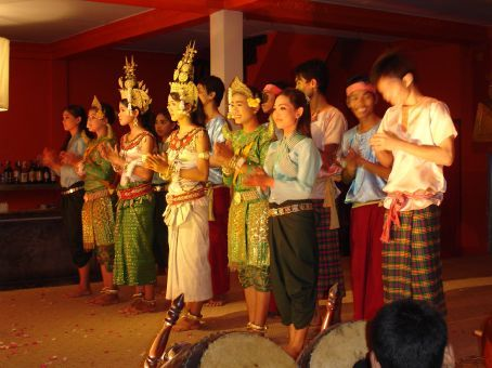 Traditional Cambodian dance performance at one of the restaurants in Pub Street in Siem Reap.